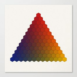 Lichtenberg-Mayer Colour Triangle variation, Remake using Mayers original idea of 12+1 chambers Canvas Print