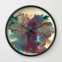 Panther Square Wall Clock