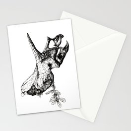 Jurassic Bloom - The Horned. Stationery Cards