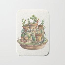 Succulent Village Bath Mat