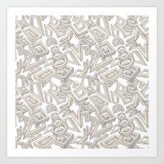 The Building Blocks Art Print