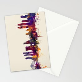 Mumbai Skyline India Bombay Stationery Cards