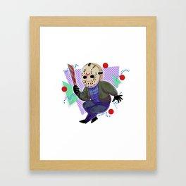 80s Horror Icons- Jason Voorhees Framed Art Print