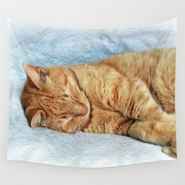 Sleepy Kitty Wall Tapestry