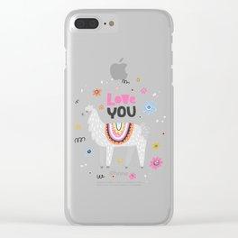 Love you lama Clear iPhone Case