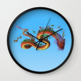 World Dragon Wall Clock