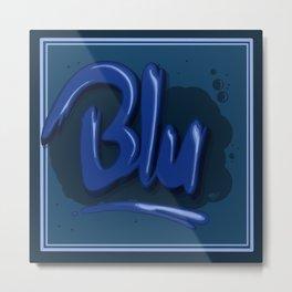 Blu Metal Print