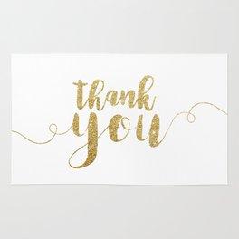 Thank You   Gold Glitter Rug