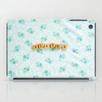 alaska iPad Cases featuring Alaska by samantha lawson