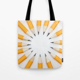 Pencil circle Tote Bag