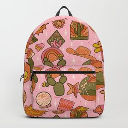 Fall Patch Print Backpack