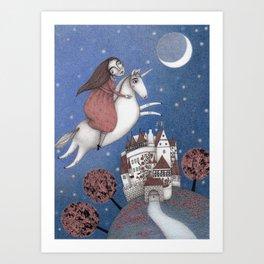 A Midnight Dream  Art Print