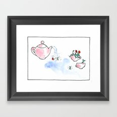 Travelling Postcard #3 - A cup of tea ? Framed Art Print