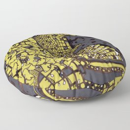 (I Want To Live On An) Abstract Plain Floor Pillow