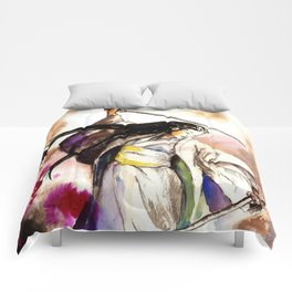Tomoe Gozen watercolor Comforters