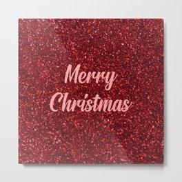 merry Christmas festive quote Metal Print