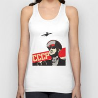 soviet Tank Tops featuring SOVIET RED ARMY by Sofia Youshi