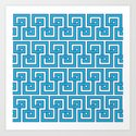 Greek Key - Turquoise by dizanadesigns