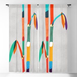 Couple of Bamboo Blackout Curtain