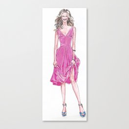 Pink Dress! Canvas Print