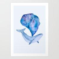 Whale Universe Art Print