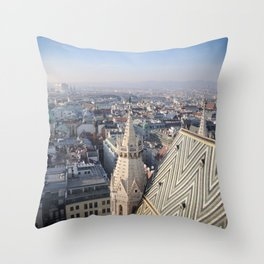 Vienna Cityscape from Stephansdom Throw Pillow