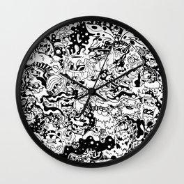 Yellow Bear Comicz Cartoon World Wall Clock