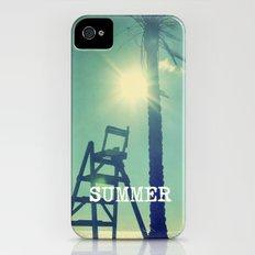 Summer beach. Vintage palm iPhone (4, 4s) Slim Case
