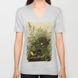 Meadow Lark (Sturnella magna) Unisex V-Neck