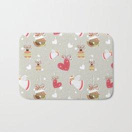 Christmas Elements Design Pattern 2 Bath Mat