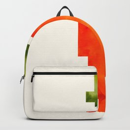 Watercolor Geometric Vegetable Orange Carrot Geometric Shapes Pixel Art Backpack