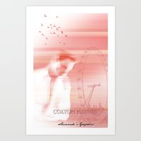 actor Art Prints featuring Colton Haynes - Actor by Sherazade's Graphics