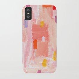 Put Sorrows In A Jar - abstract modern art minimal painting nursery iPhone Case