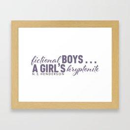 Fictional Boys . . . Framed Art Print