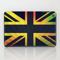 british flag iPad Cases featuring RASTA BRITISH FLAG by shannon's art space