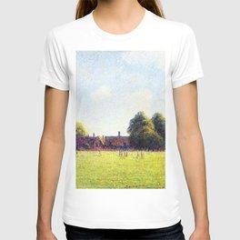 Hampton Court Green London 1891 By Camille Pissarro | Reproduction | Impressionism Painter T-shirt