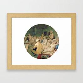 Le Bain turc / The Turkish bath (1862) Framed Art Print