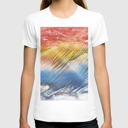 The Wind - abstract landscape watercolor monotype T-shirt