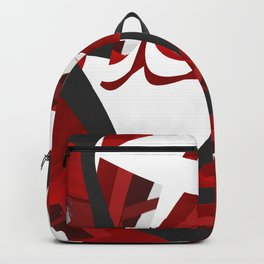 A red opening Backpack