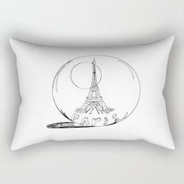 Paris in a glass ball .  City art, Decorative Prints, altwall, Home Decor Graphicdesign Rectangular Pillow