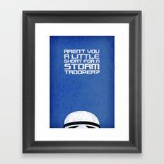 Tiny Trooper Framed Art Print