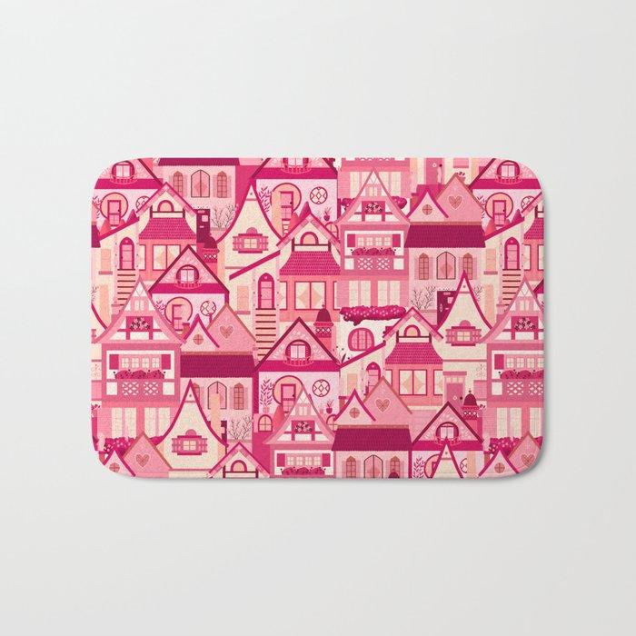 Pink Little Town Bath Mat