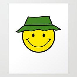 Happy Camper - Cute Smiley Art Print