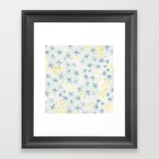 Blue Fields. Fictional Flowers. Framed Art Print