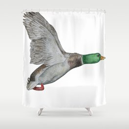 Flying Duck Shower Curtain