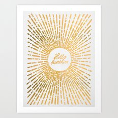 Hello Sunshine Gold Art Print