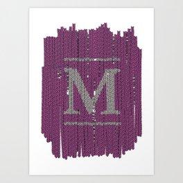 Winter clothes II. Letter M Art Print