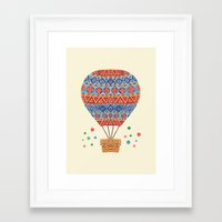hot air balloon Framed Art Prints featuring Hot Air Balloon by haidishabrina