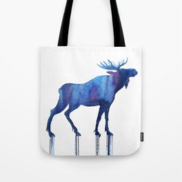 moose and stars Tote Bag