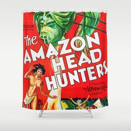 The Amazon Head Hunters  - Vintage Film Poster Shower Curtain